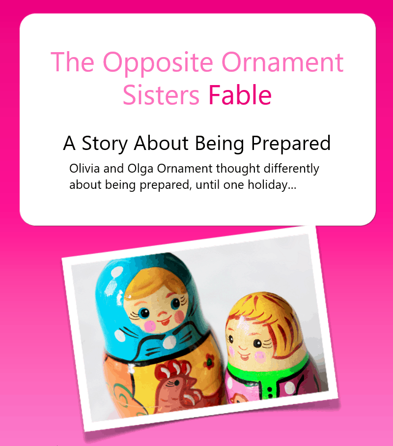 The Opposite Ornament Sisters